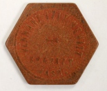 Saloon Tokens, c. 1890-1915. In the Collection of the Everett Museum of History.