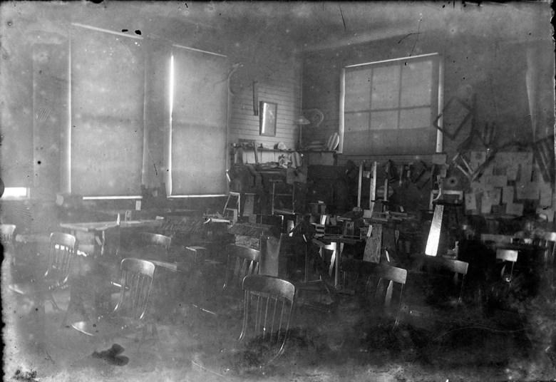School interior, possibly Short School district 12.