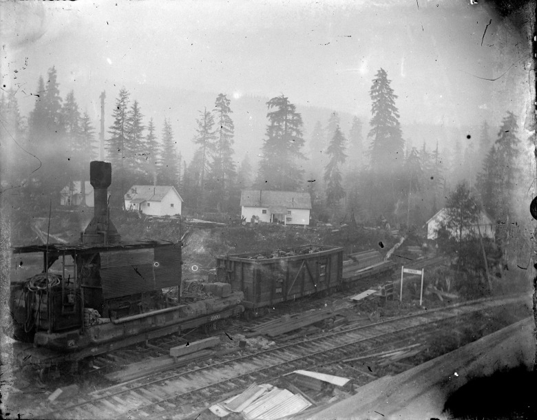 Sawyer, WA, on the Mountain Loop Highway: IMG_5857_Sawyer_Train_Tracks_Houses